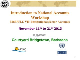 Introduction to National Accounts Workshop MODULE VII: Institutional Sector Accounts