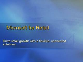 Microsoft for Retail