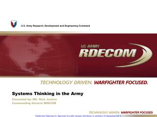 Systems Thinking in the Army