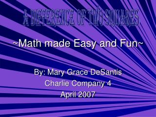 ~Math made Easy and Fun~