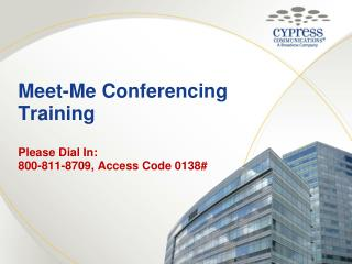 Meet-Me Conferencing Training