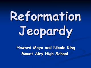 Reformation Jeopardy