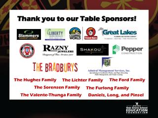 Thank you to our Table Sponsors!