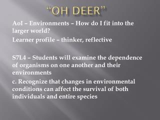 """""""Oh Deer"""""""