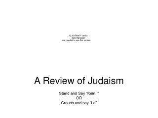 "A Review of Judaism Stand and Say ""Kein  "" OR Crouch and say ""Lo"""