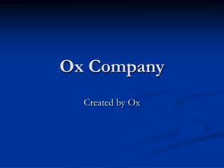 Ox Company