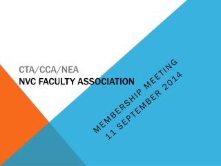 CTA/CCA/NEA NVC Faculty Association