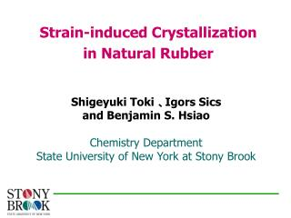 Strain-induced Crystallization  in Natural Rubber