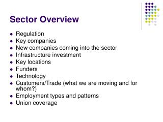 Sector Overview