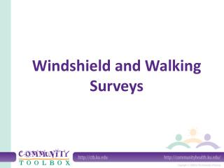example windshield survey report