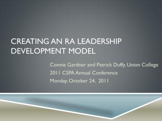 Creating an RA Leadership Development Model