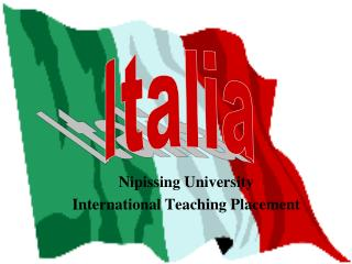 Nipissing UniversityInternational Teaching Placement
