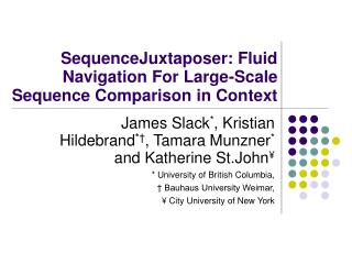 SequenceJuxtaposer: Fluid Navigation For Large-Scale Sequence Comparison in Context