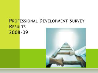 Professional Development Survey Results 2008-09