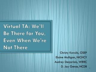 Virtual TA: We'll Be There for You, Even When We're Not There