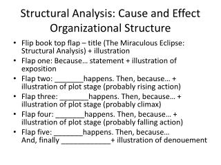 Structural Analysis: Cause and Effect Organizational Structure