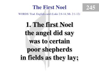 The First Noel (verse 1)