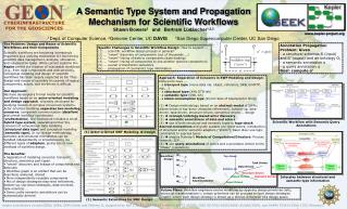 A Semantic Type System and Propagation  Mechanism for Scientific Workflows
