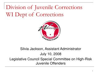 Division of Juvenile Corrections WI Dept of Corrections