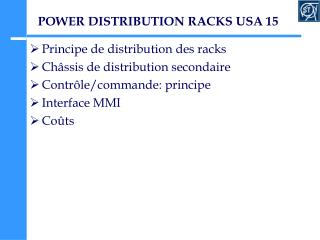 POWER DISTRIBUTION RACKS USA 15