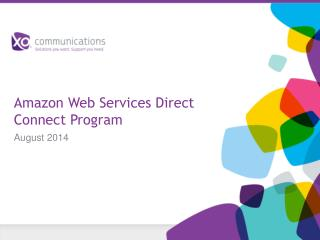 Amazon Web Services Direct Connect Program