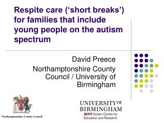 Respite care ('short breaks') for families that include young people on the autism spectrum