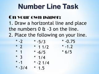 Number Line Task