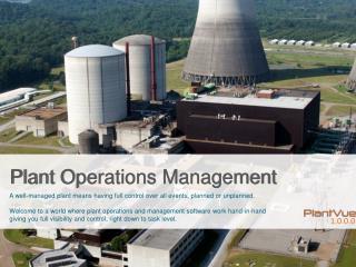 Plant Operations Management
