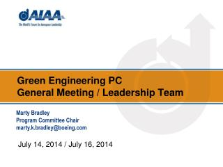 Green Engineering  PC  General  Meeting / Leadership Team