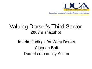 Valuing Dorset's Third Sector 2007 a snapshot
