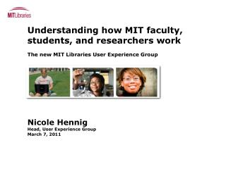 Understanding how MIT faculty, students, and researchers work