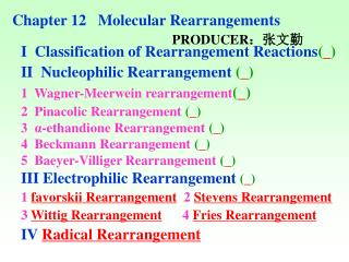 Chapter 12   Molecular Rearrangements