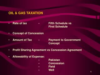 OIL & GAS TAXATION