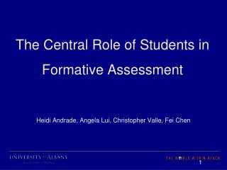 The Central Role of Students in Formative Assessment