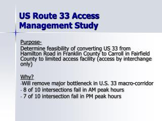US Route 33 Access Management Study