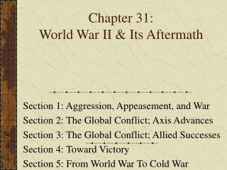 Chapter 31: World War II & Its Aftermath