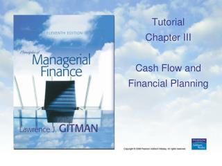 Tutorial Chapter  III Cash Flow and Financial Planning