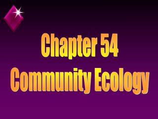Chapter 54 Community Ecology