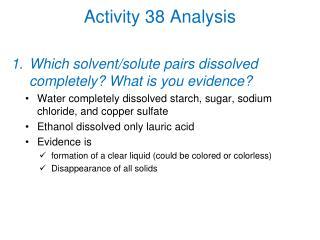 Activity 38 Analysis