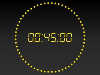 PowerPoint 2010 Digital Clock 45 mins