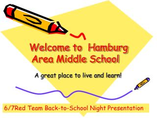 Welcome to  Hamburg Area Middle School