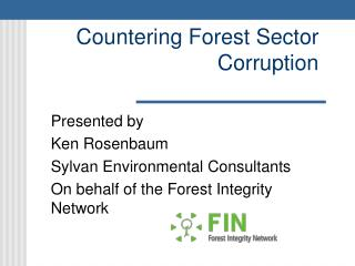 Countering Forest Sector Corruption