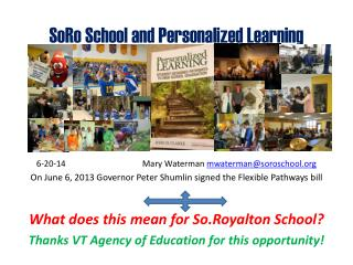 SoRo  School and Personalized Learning