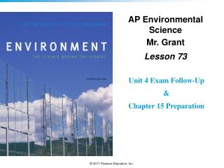 AP Environmental Science Mr. Grant Lesson  73