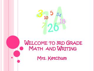 Welcome to 3rd Grade        Math  and Writing