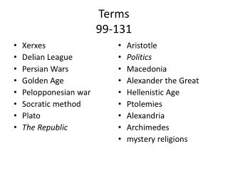 Terms 99-131
