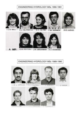 ENGINEERING HYDROLOGY MSc 1990-1991