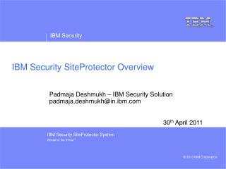 IBM Security SiteProtector Overview