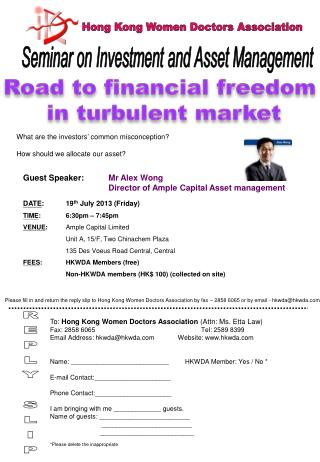 Road to financial freedom  in turbulent market