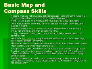 Basic Map and Compass Skills